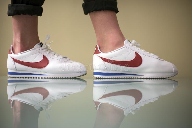 Nike Cortez interna imagem de stock