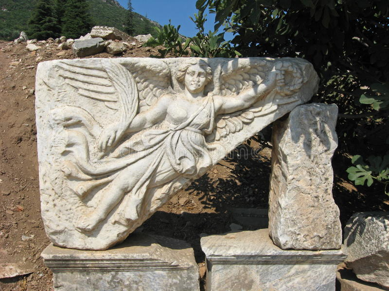 Download Nike - The Goddess Of Victory, Ephesus Stock Image - Image of east,