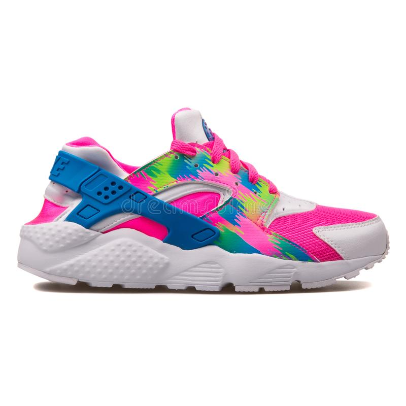 Nike Huarache Run Print Pink, Blue
