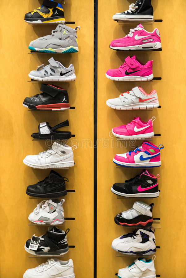 Download Nike kids shoes editorial photo. Image of purchase, shoes -  59526846