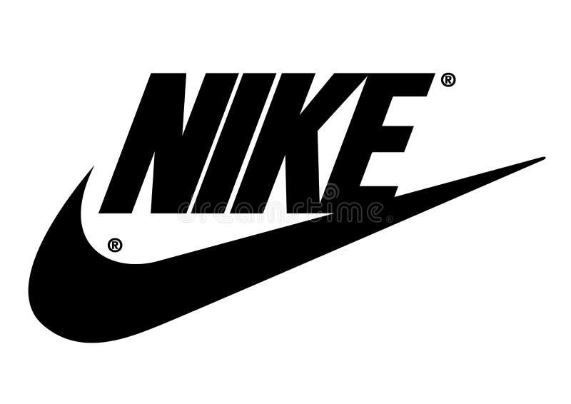 Nike logo royalty free illustration