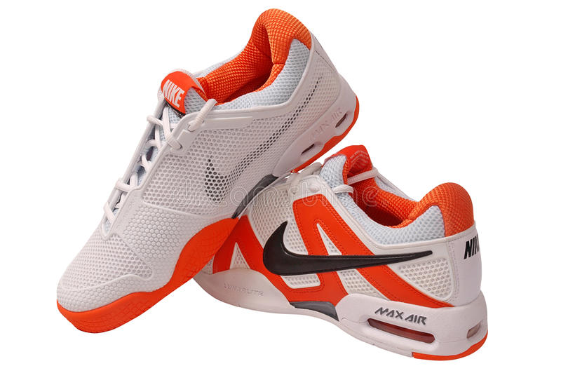 Nike ostenta sapatas imagens de stock