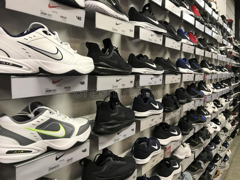 Nike Shoes royaltyfri bild