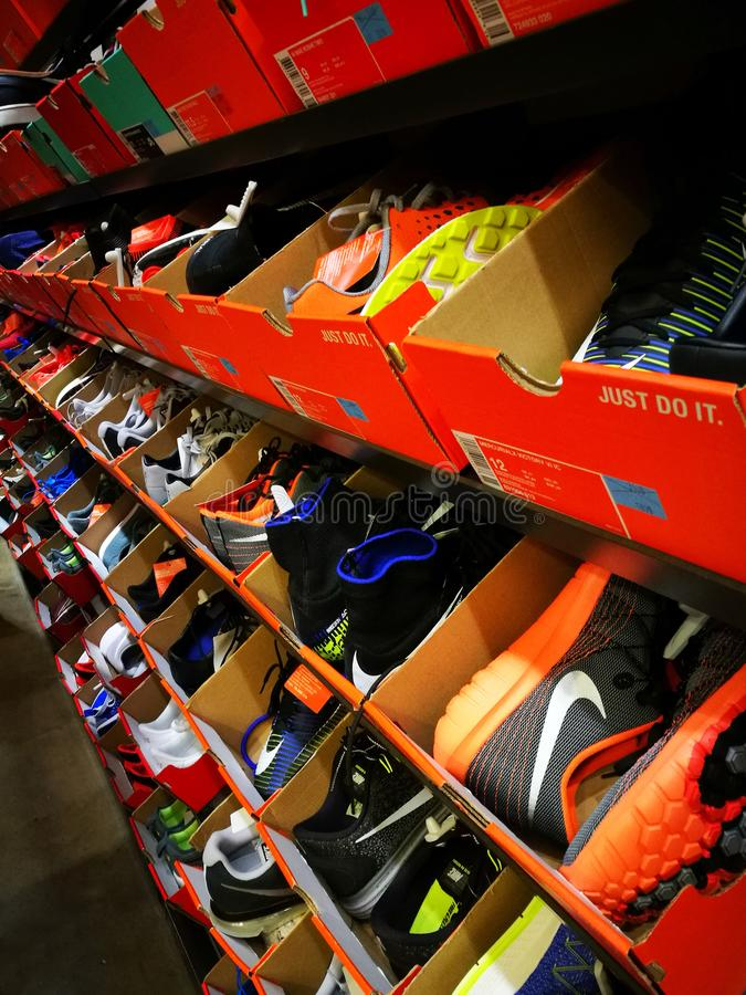 Nike Sports Outlet Store Shop image stock