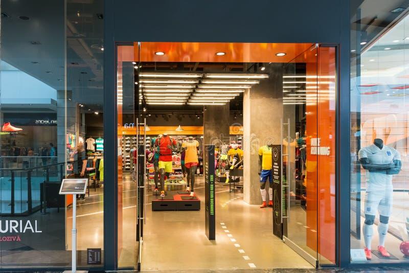 Nike Store stockbilder