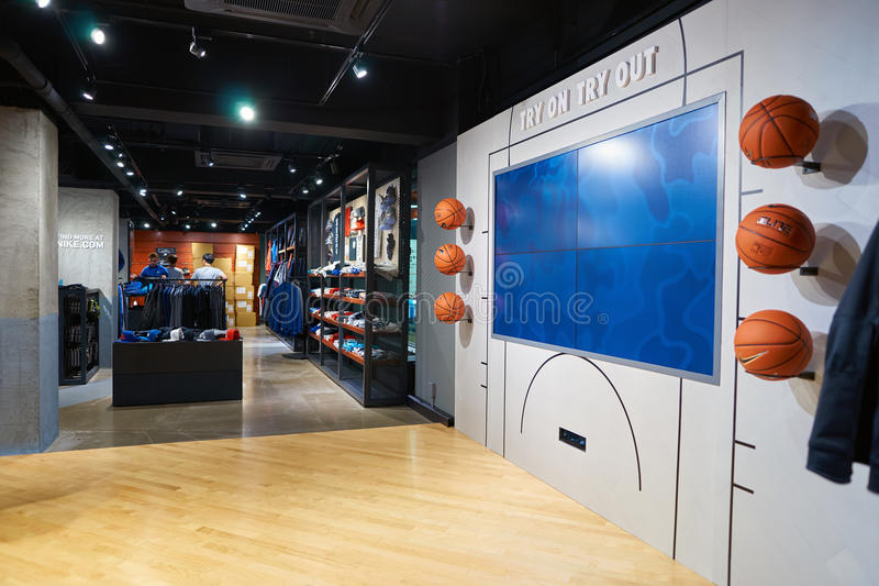 Nike Store imagens de stock