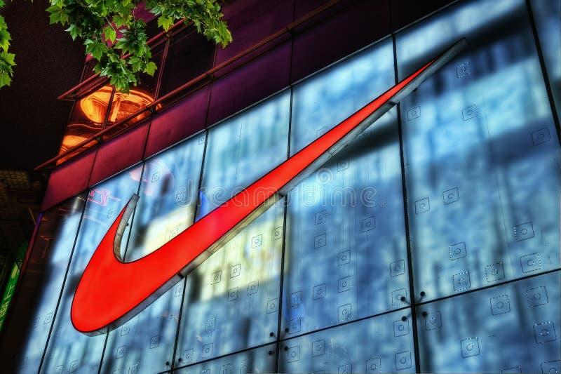 Nike Store Shanghai fotografering för bildbyråer