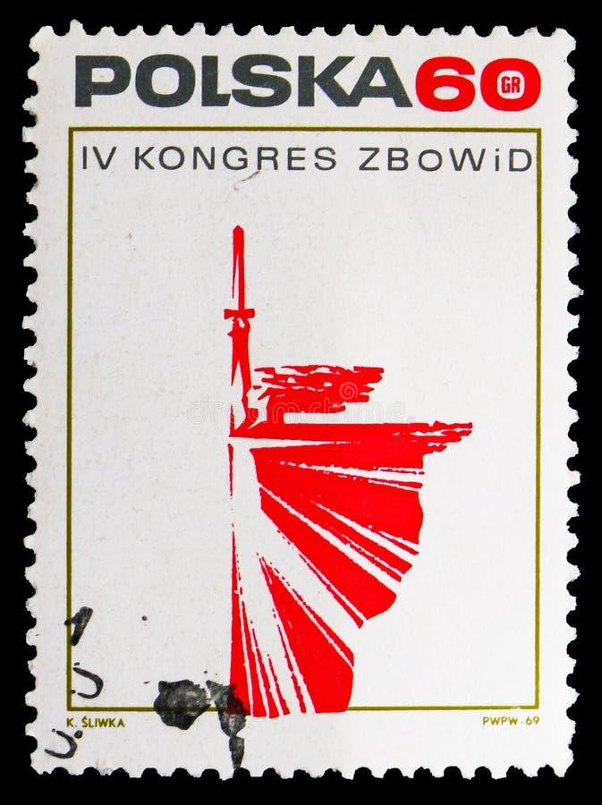 Nike, 4th kongres Zrzeszeniowi wojownicy Dla wolności I Democraty seria około 1969, royalty ilustracja