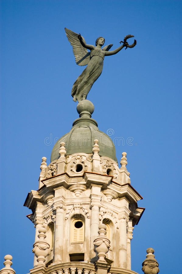 Download Nike Victory Statue, Havana Gran Teatro, Cuba Stock Photo - Image: 17014710