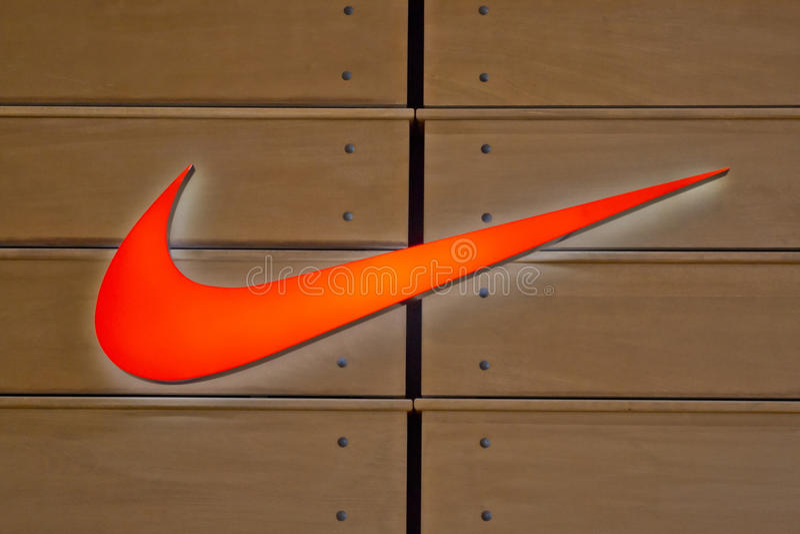 Nike-Zeichen stockbild