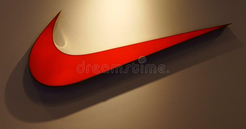 Nikezeichen stockfoto