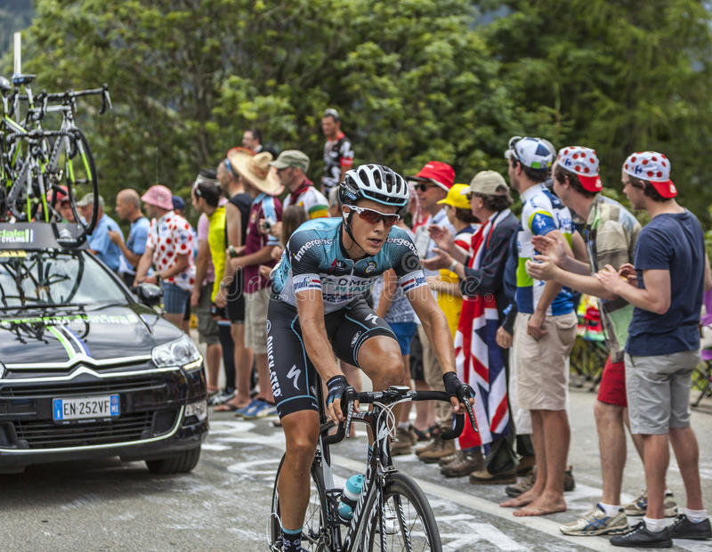 Download Niki Terpstra Climbing Alpe D'Huez Editorial Photo - Image: 35396696