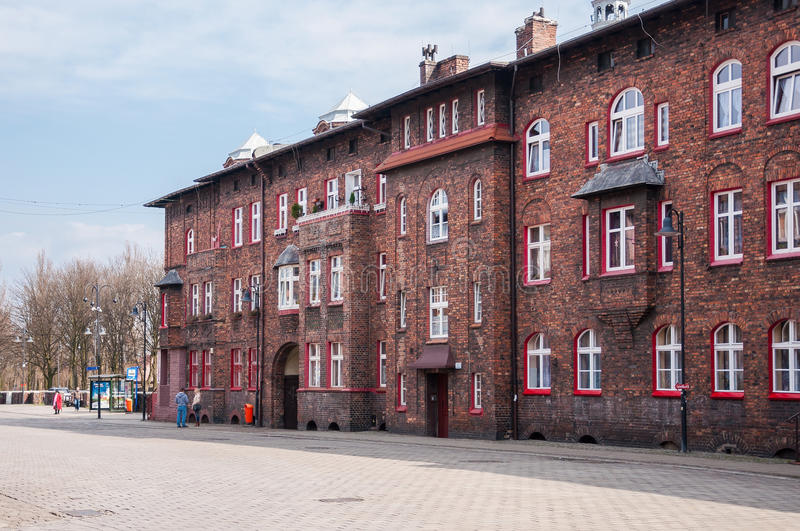 Nikiszowiec, historic coal miners settlement in Katowice, Poland. Katowice, Poland - March 28, 2016: Nikiszowiec, historic district of Katowice. Initially it was stock images