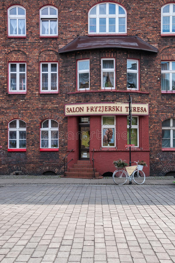 Nikiszowiec, historic coal miners settlement in Katowice, Poland. Katowice, Poland - March 28, 2016: Nikiszowiec, historic district of Katowice. Initially it was royalty free stock images
