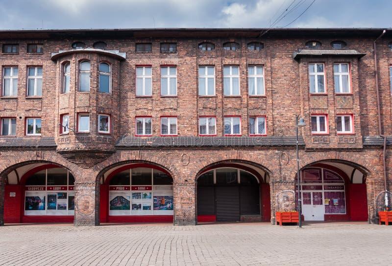 Nikiszowiec, historische Kohlenbergmannregelung in Katowice, Polen lizenzfreie stockbilder