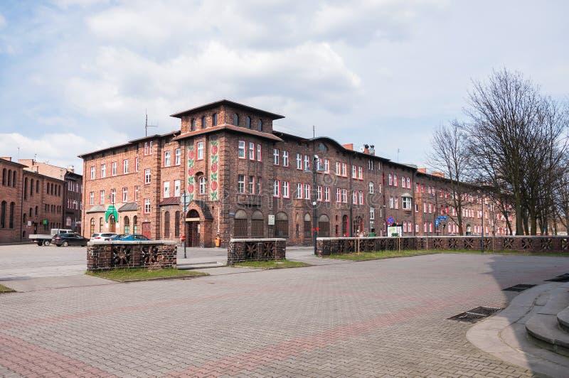 Nikiszowiec, historische Kohlenbergmannregelung in Katowice, Polen stockfoto