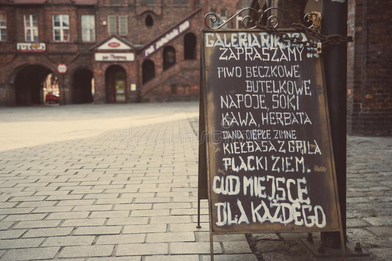 Nikiszowiec - parte histórica de Katowice y de Silesia imagenes de archivo