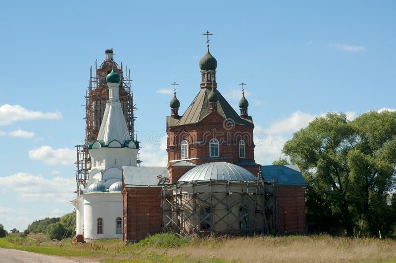 Nikitskaya church with belltower in Elizarovo royalty free stock photos
