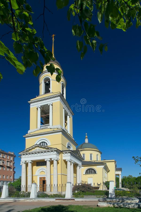 Nikitsky门的,莫斯科伟大的上生教会, 库存图片