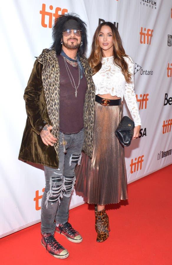 Nikki Sixx del ¼ e de Mötley Crà en el festival de cine internacional 2017 de Toronto en la premier trágico del documental de la foto de archivo libre de regalías