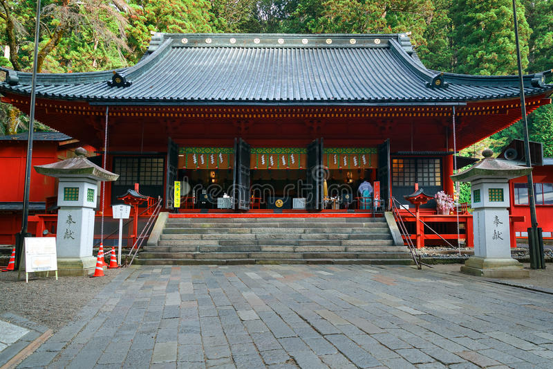 Nikko Futarasan relikskrin i NIkko, Japan arkivbilder