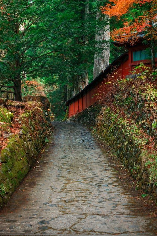 Nikko Futarasan relikskrin i NIkko, Japan royaltyfri fotografi