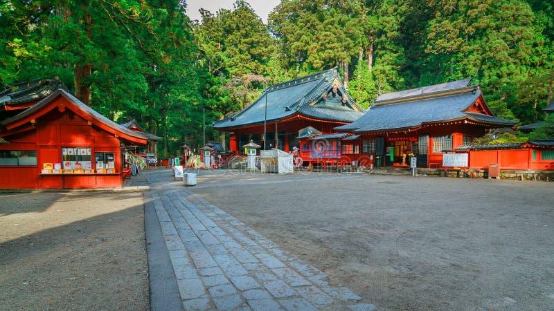 Nikko Futarasan relikskrin i NIkko, Japan royaltyfria bilder