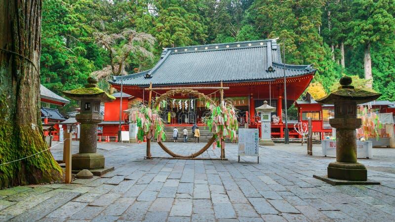 Nikko Futarasan relikskrin i NIkko, Japan fotografering för bildbyråer
