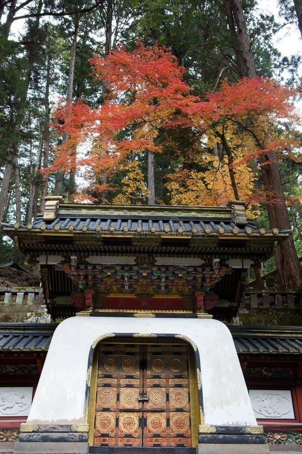 Nikko Japan, i höst royaltyfria bilder