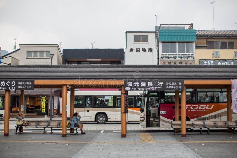 NIKKO, JAPAN - 18. JUNI: Vor Nikko-Touristeninformations-Cer stockfotografie