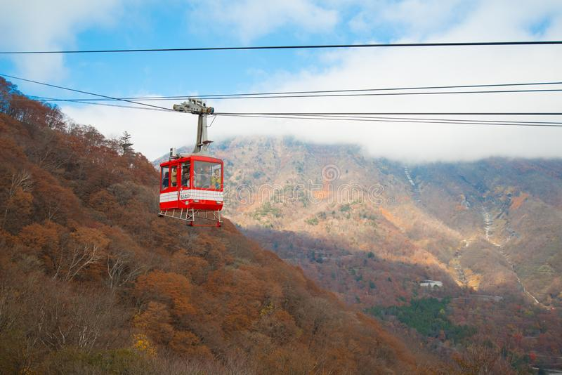 Ropeway to Akechi-daira Viewpoint stock photography