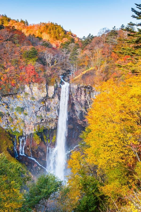 Nikko, Japonia przy Kegon spadkami zdjęcie stock