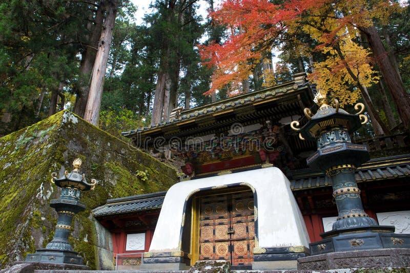 Nikko, Japonia, w jesieni fotografia stock