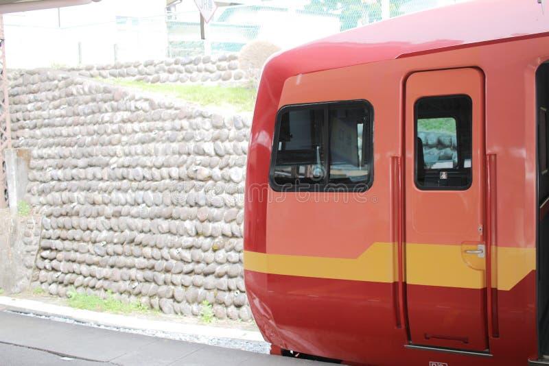 Nikko Kinugawa LINJE stopp på Tobu Nikko arkivbilder