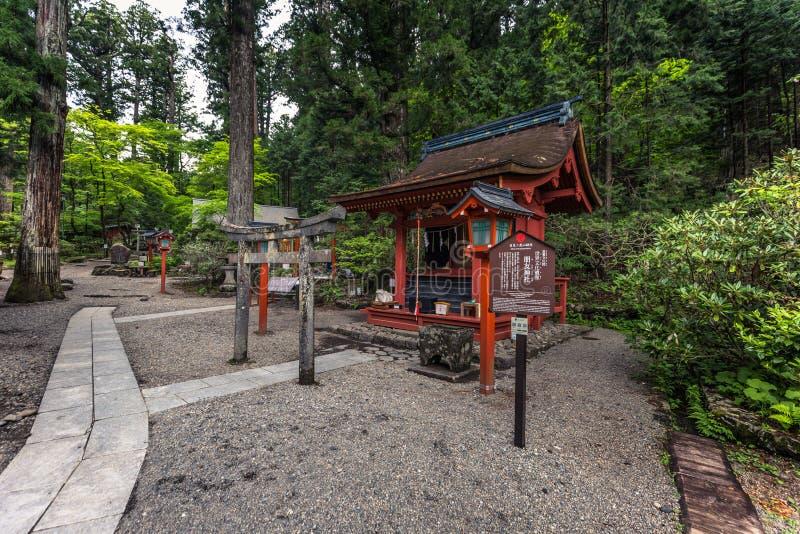 Nikko - Maj 22, 2019: Futarasan Shinto relikskrin i Nikko, Japan royaltyfria foton