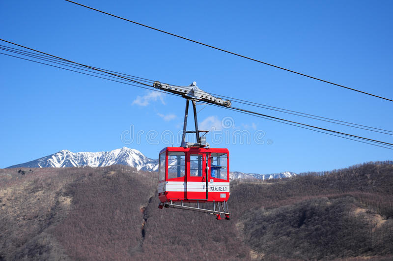 Nikko ropeway cable car royalty free stock image