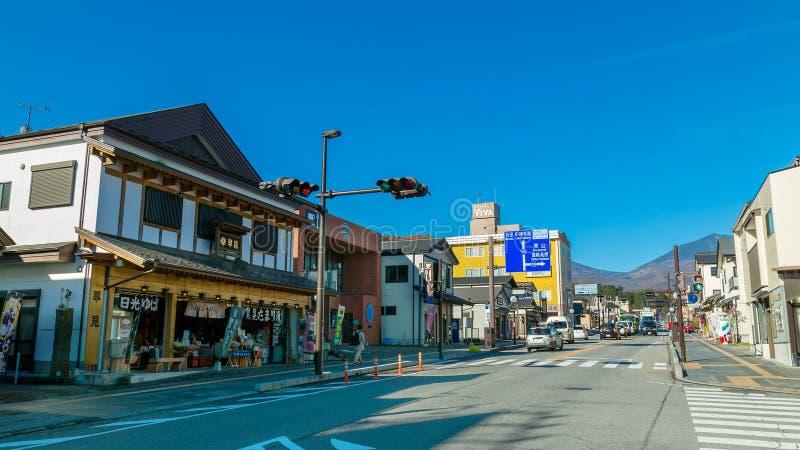 Nikko stad i Japan arkivbild