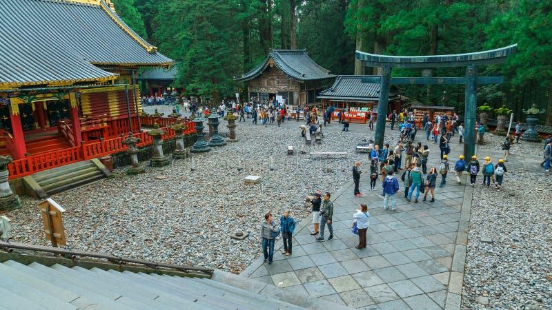 Nikko Toshogu relikskrin i Nikko, Japan fotografering för bildbyråer