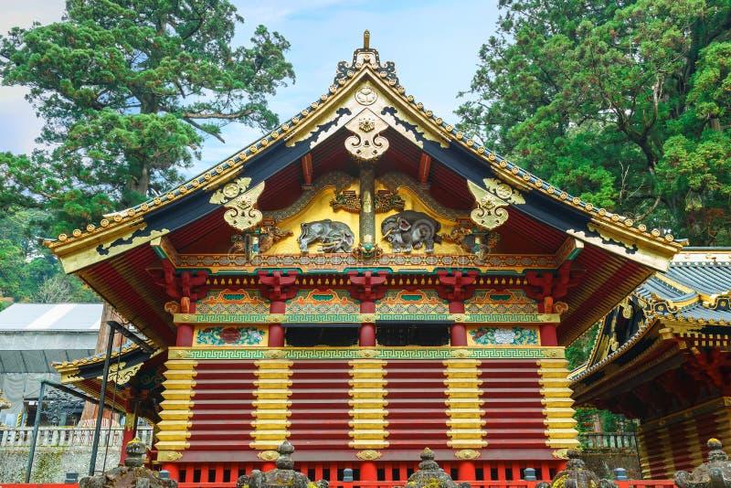 Nikko Toshogu relikskrin i Nikko, Japan arkivbild