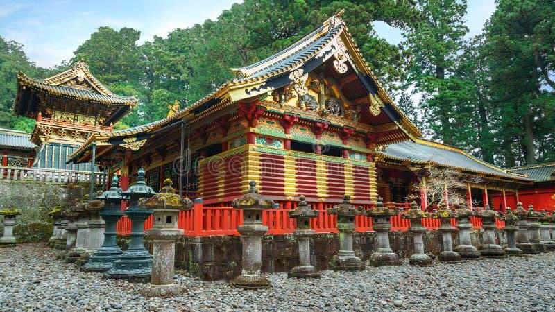 Nikko Toshogu relikskrin i Nikko, Japan royaltyfri fotografi