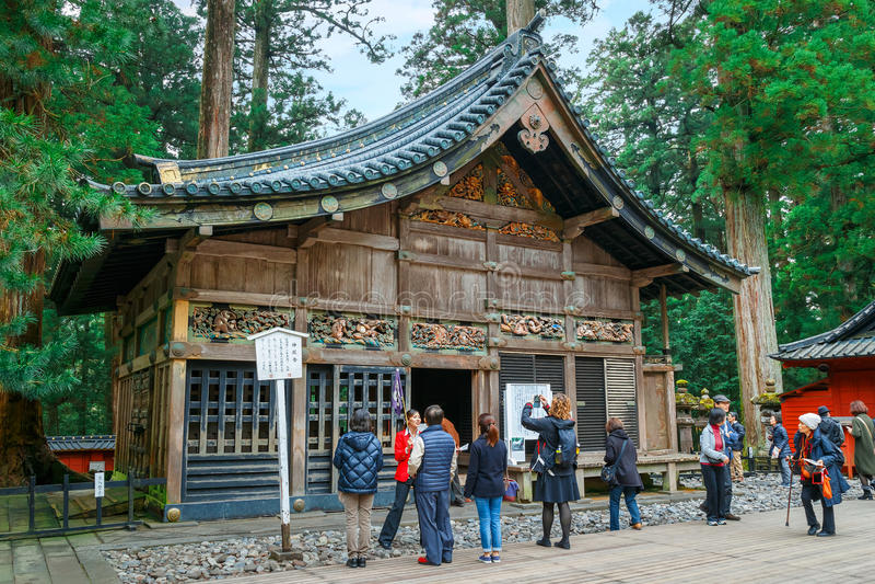 Nikko Toshogu relikskrin i Nikko, Japan royaltyfria foton