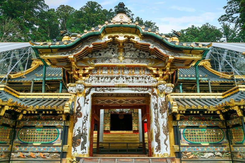 Nikko Toshogu relikskrin i Nikko, Japan arkivbilder