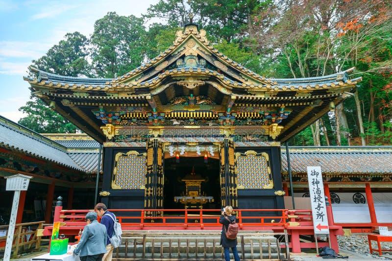Nikko Toshogu relikskrin i Nikko, Tochigi, Japan arkivfoton