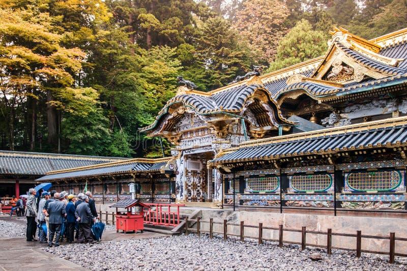 Nikko Toshogu relikskrin, Tochigi, Japan arkivbild
