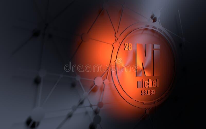 Nikla chemiczny element ilustracji