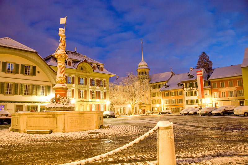 Niklaus Thut place Zofingen royalty free stock images