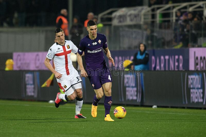italian Serie A soccer match ACF Fiorentina vs Genoa CFC royalty free stock photos