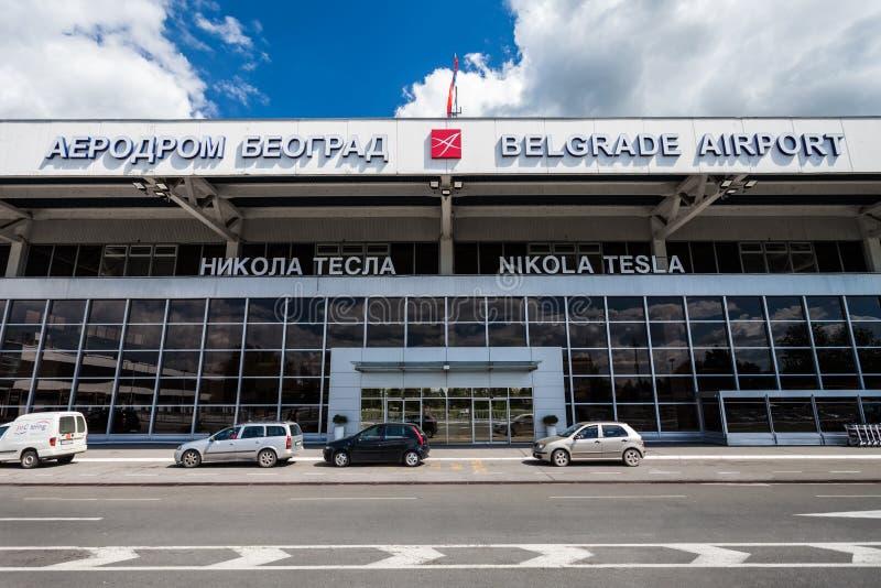 Nikola Tesla Airport, Belgrado, Serbia fotografia stock