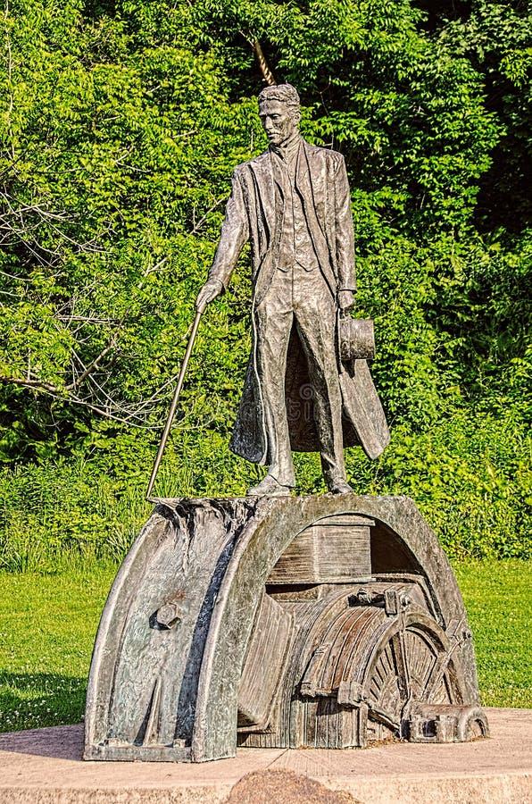 Nikola Tesla Monument imagen de archivo