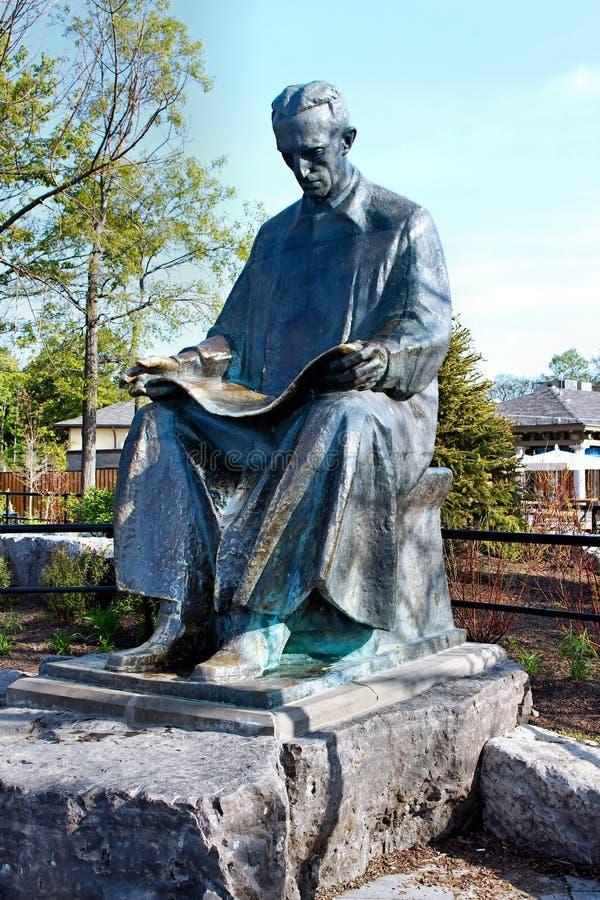 Nikola Tesla Statue foto de archivo